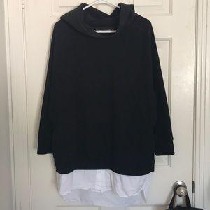 Zara Trafaluc Oversized Hoodie Dress with Shirt
